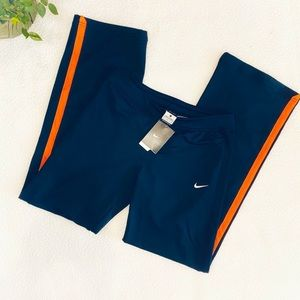 NWT Nike training pants in navy and peach